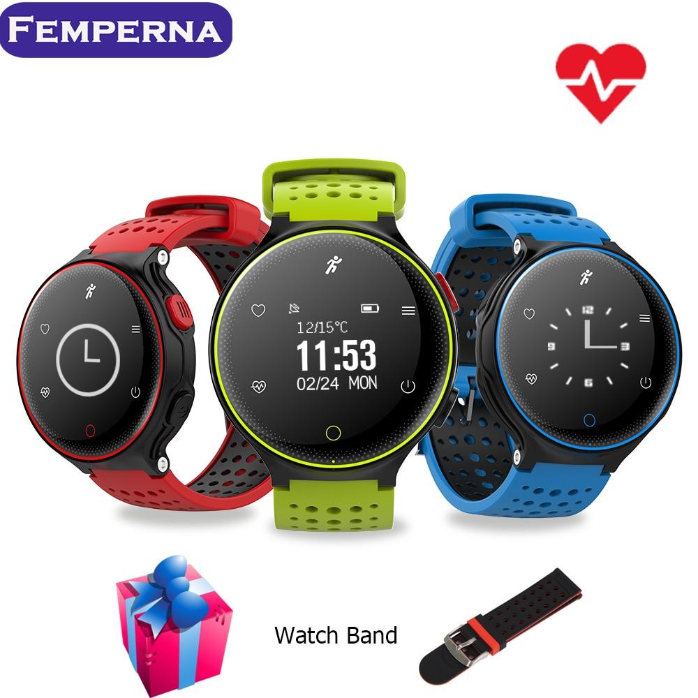 Femperna XR02 Sport Waterproof Smartband Bluetooth Smart watch Support Heart Rate Monitor Pedometer Smartwatch for IOS