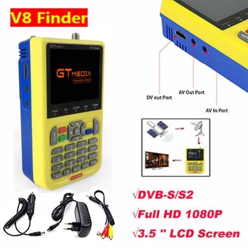 Détecteur de télévision HD satfinder DVB-S2 détecteur de Satellite haute définition MPEG-4 DVB S2 compteur Satellite 1080 P détecteur HD détecteur de Satellite lnb