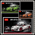 IN STOCK 2726PCS DECOOL 3368 technic series 911 GT3 RS White green orange Model Building Kits  Blocks Bricks Compatible 42056