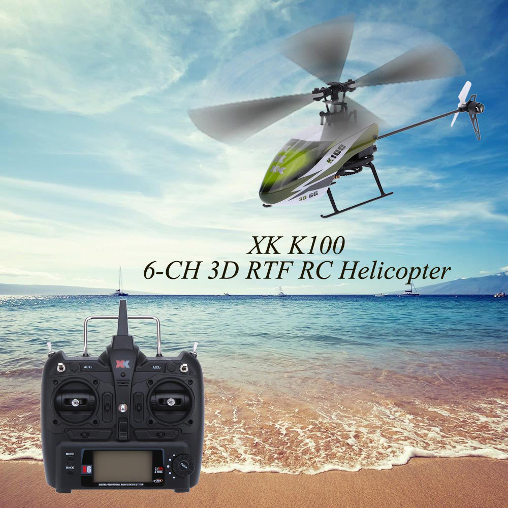 Wltoys XK K100 RTF 6CH 3D 6G System Brushless Motor remote control Helicopter XK Falcon K100 RC helicopter цена