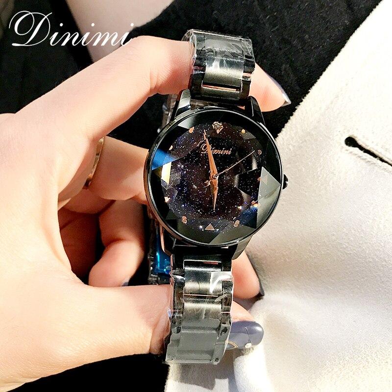 Dimini mode de luxe femmes montres dame montre or Quartz montre-bracelet en acier inoxydable dames montres cadeaux présent Dropshippin - 5