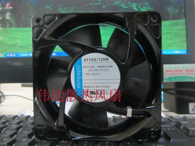 Original ebmpapst 12038 TYP 4114N / 12HR DC 24V 345MA 8.3W inverter fan cooling fan
