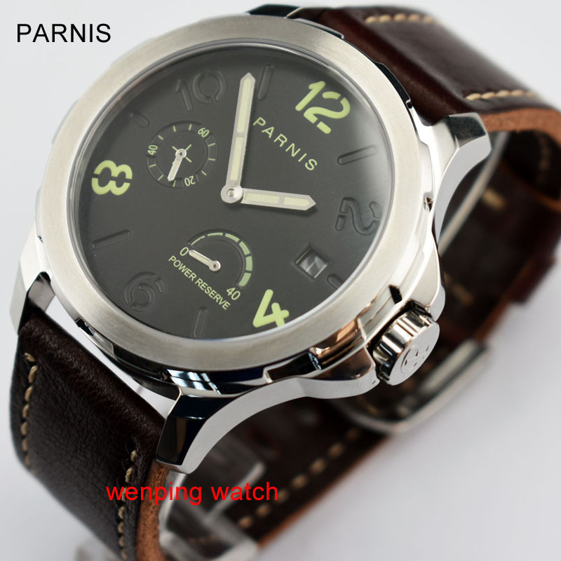 Parnis Menchanical Watches 44mm Luminous Date Sapphire <font><b>st2530</b></font> automatic movement Male Wrist Watches image