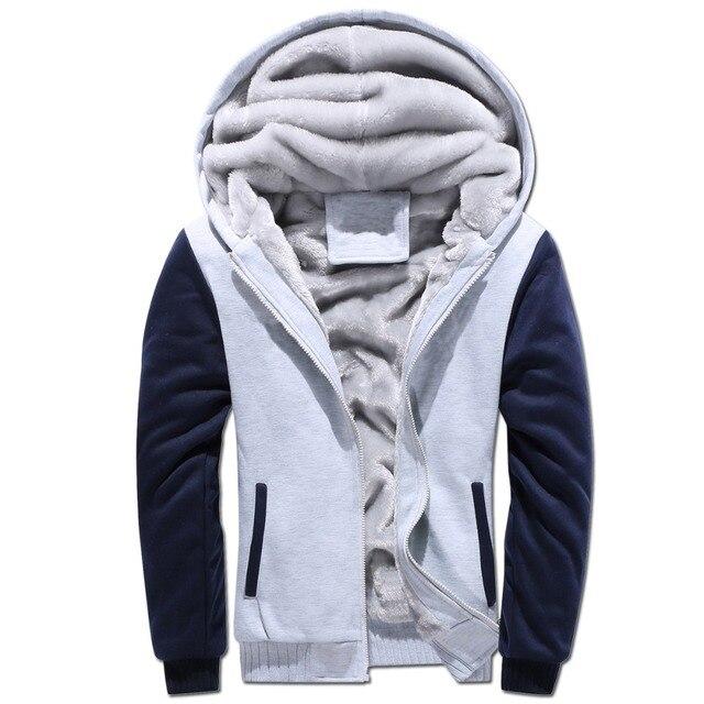 1f2dba2c5a48 2018 Super Warm Hoodies Sweatshirts for Men Winter Thick Fleece Men's  Jackets Casual Zip up Hoody Adult Coats Top