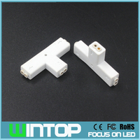 AISTARRY 5pcs/lot 2Pin T-Type Connector LED Strip Light Connector Free Soldering Connectors for SMD3528/5050/2835 Single Strip