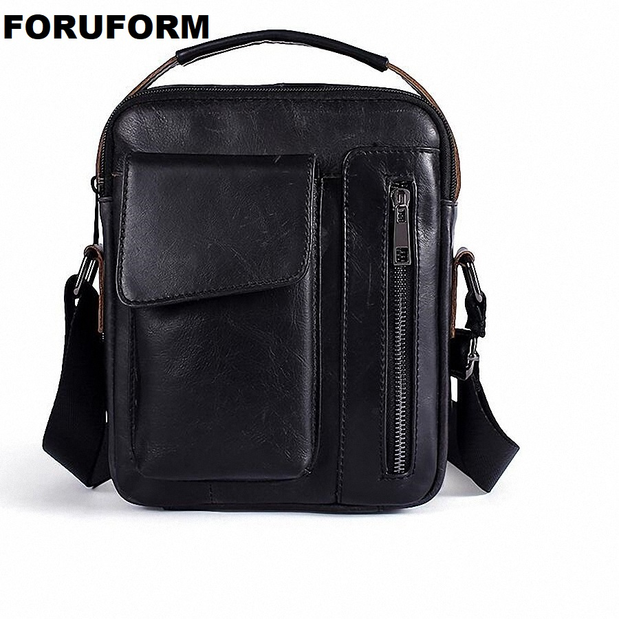 Genuine Leather Men Bag Fashion Leather Crossbody Bag Shoulder Men Messenger Bags Small Casual Designer Handbags Man Bag LI-2219 genuine leather men bag fashion messenger bags shoulder business men s briefcase casual crossbody handbags man waist bag li 1423