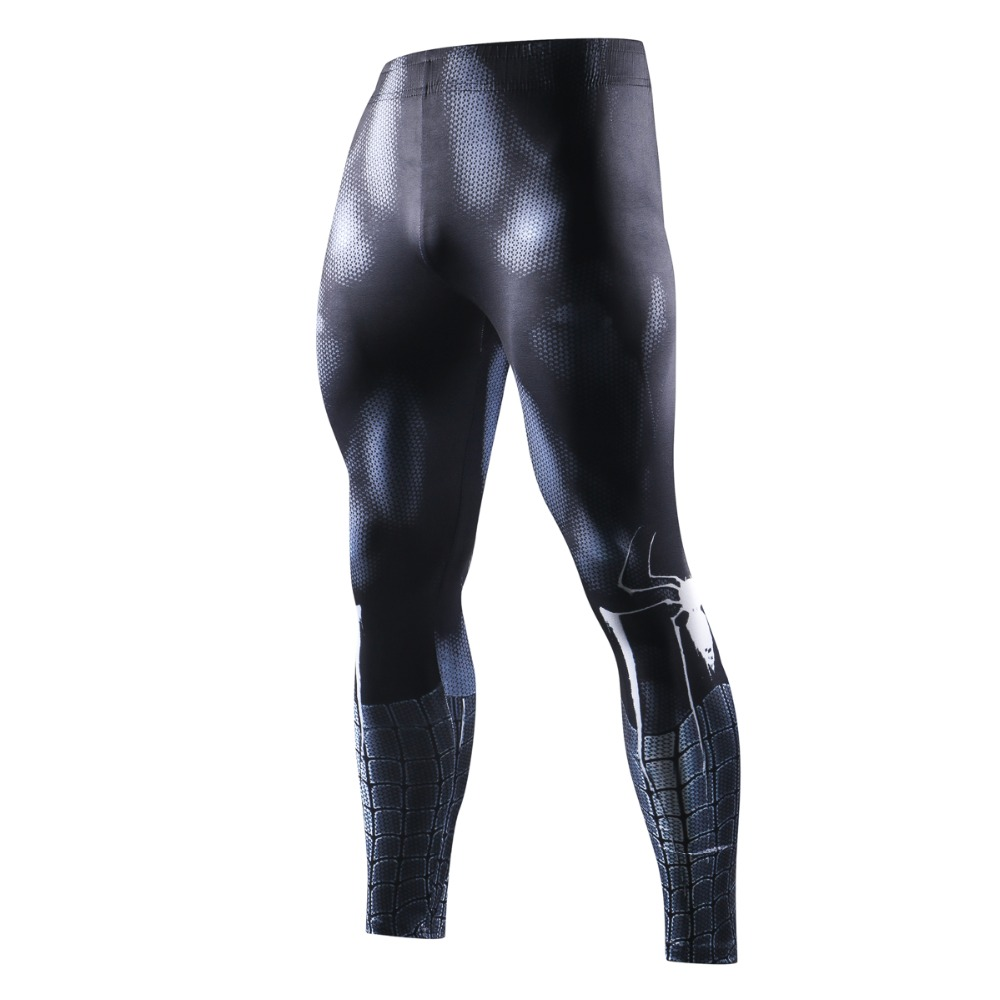 New Marvel Men Skinny Compression Pants 3D Black Spiderman Leggings Sweatpants 3D Fitness Crossfit Bodybuilding Elastic Trousers