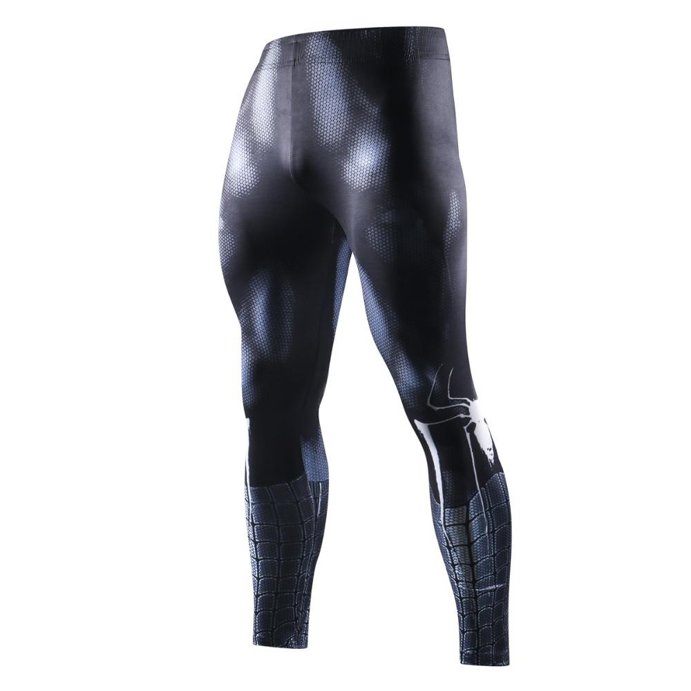New Marvel Men Skinny Compression Pants 3D Black Spiderman Leggings Sweatpants 3D Fitness Exercise Bodybuilding Elastic Trousers