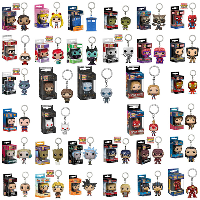 FUNKO POP Harry Potter Chaveiro Sailor Moon Oficial Venom Super Hero Action Figure Collectible Jon Snow chaveiro Com Caixa