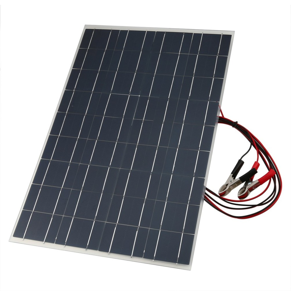Chargeur solaire portatif de panneau solaire de chargeur de batterie de voiture Flexible de 18 V 30 W avec la ligne de Clip de Crocodile de charge de batterie