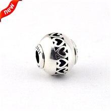Encantos de plata Adapta Pandora Pulsera de Perlas para La Joyería Amor Plata Esencia Esencia Encanto 925 Joyas de Plata FE017