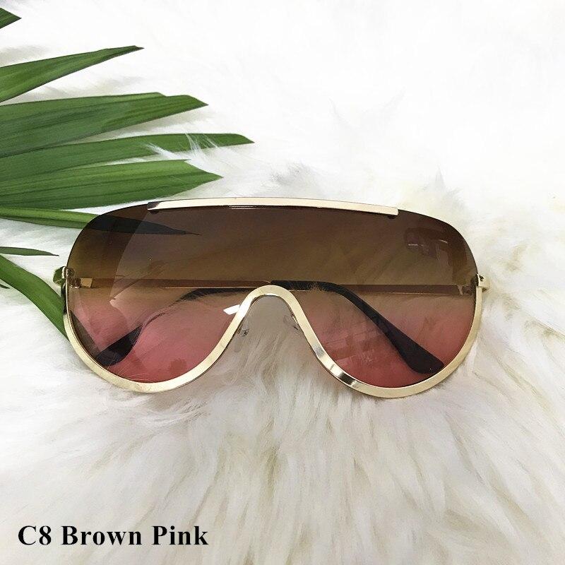Rimless Gold Clear Sunglasses Men Women Brand Designer Aviator Clear Sunglasses 25