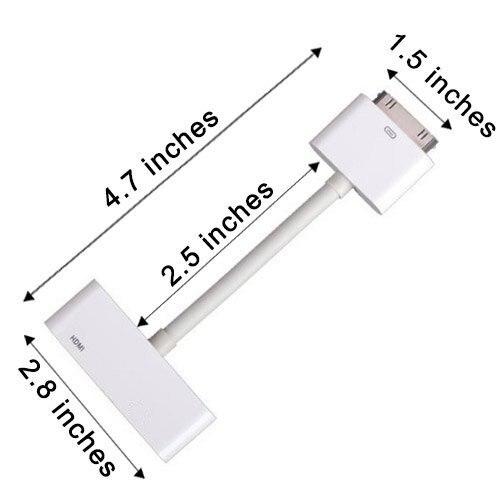 Digital AV HDTV Adapter 30 Pin Dock Connector To HDMI For Apple IPad IPhone Ios9.3.5