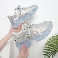 2019 Casual Bling Shoes Silver Sneaker Women Crystal Platform Chunky Sneakers Femme Rhinestone Zapato De Mujer womens shoes