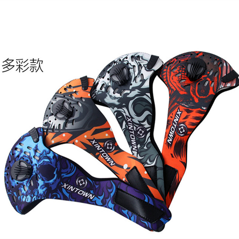 Q330 Anti-Pollution Windproof Cycling Masks Dustproof Bicycle Sports Road Cycling Carbon Filter Mask Half Face Cover