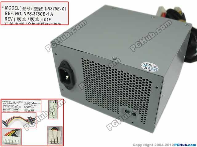 Emacro Мощность край T310 N375E 01, NPS 375CB 1, 0T122K сервера Питание 360 Вт PSU для Мощность край T310, новый