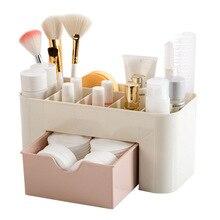 Urijk Plastic Makeup Organizer Desktop Storage Box Living Room Home Remote Control Container Cosmetics Case Office Finishing Box