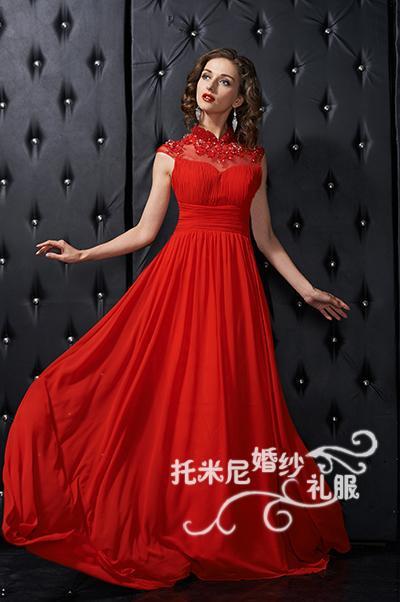 Sexy dos nu plage col haut longue robe de bal vestidos 2018 nouveau style plancher-longueur cap manches partie personnalisé robes de demoiselle d'honneur