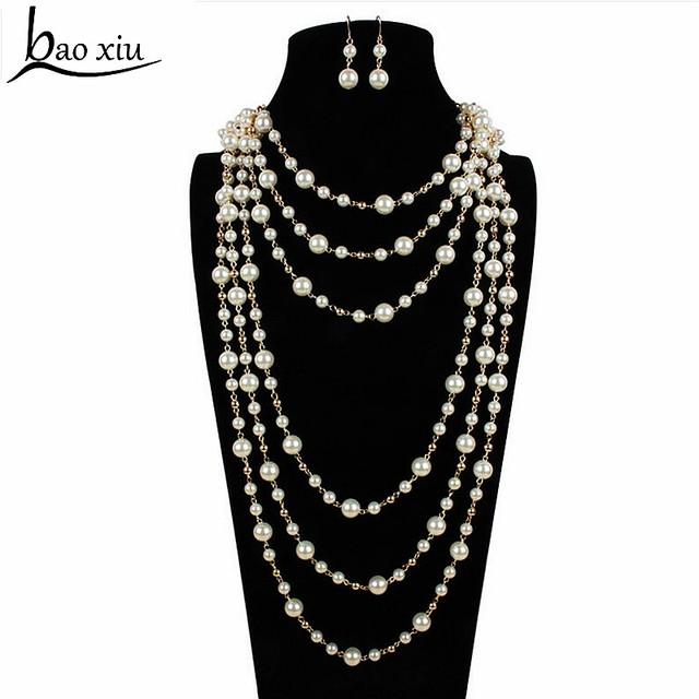 De moda de La Cadena Body Harness chaleco elegante de múltiples capas Collar de Perlas Cintura nupcial bijoux Joyería de la boda accesorios vestido de fiesta