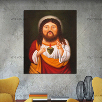 100% Handmade Lovely Jesus Christ Canvas Oil Painting Home Decor Pictures Wall Art Canvas Picture For Living Room Christmas Gift
