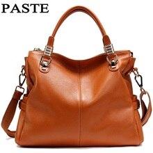 Paste echtem leder handtaschen luxus für frauen rindsleder luxus handtaschen frauen taschen designer frauen messenger bags mode t236