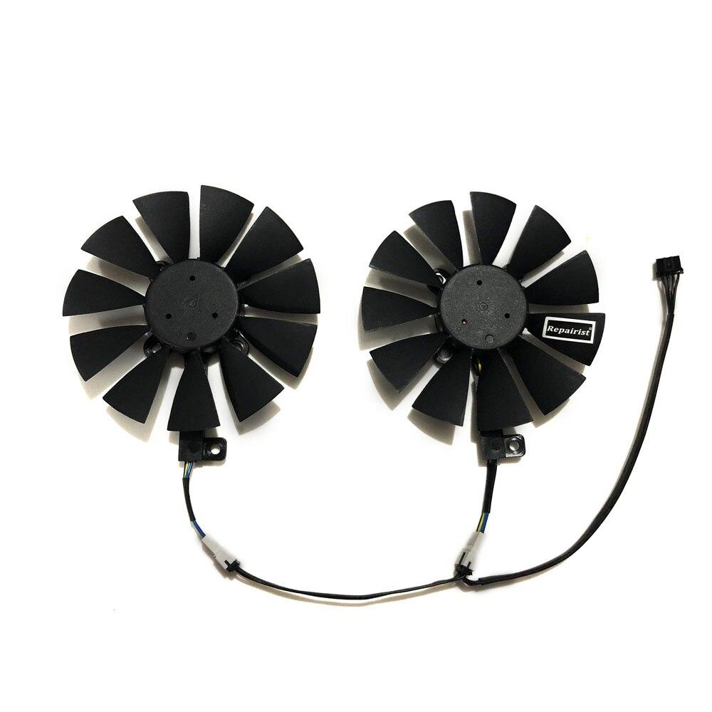 2 unids/set GTX 1070 1060 VGA GPU refrigerador ventilador de la tarjeta gráfica para ASUS GTX1060 GTX1070 DUAL edición tarjetas de Video enfriamiento como reemplazo