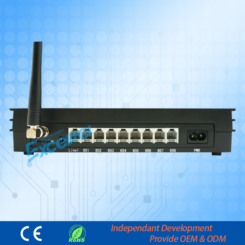 Wireless telephone exchange MS108-GSM 1 CO line 8 extensions with 1 SIM card GSM PBX