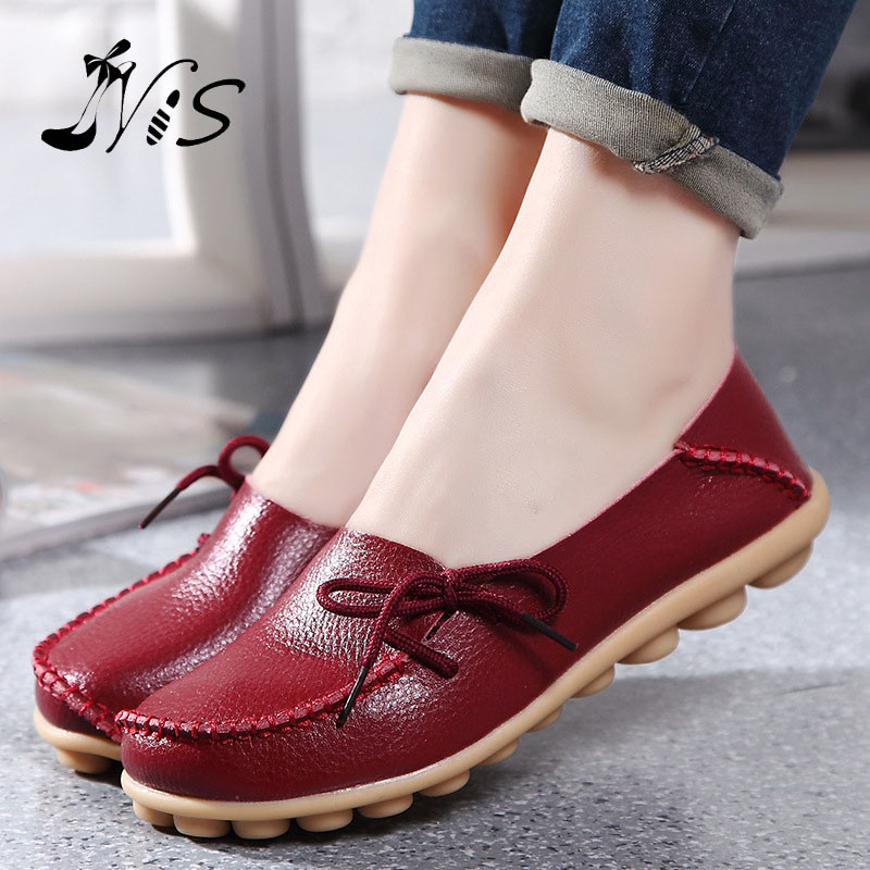 Hot Sale Leather Beanie Women Shoes Fashion Summer Spring Autumn Slip-on Knot Non-slip Womens Women Ladies Soft Loafers Flats 2015 hot sale new spring autumn women flats sweet bowtie casual fashion ladies wedding shoes
