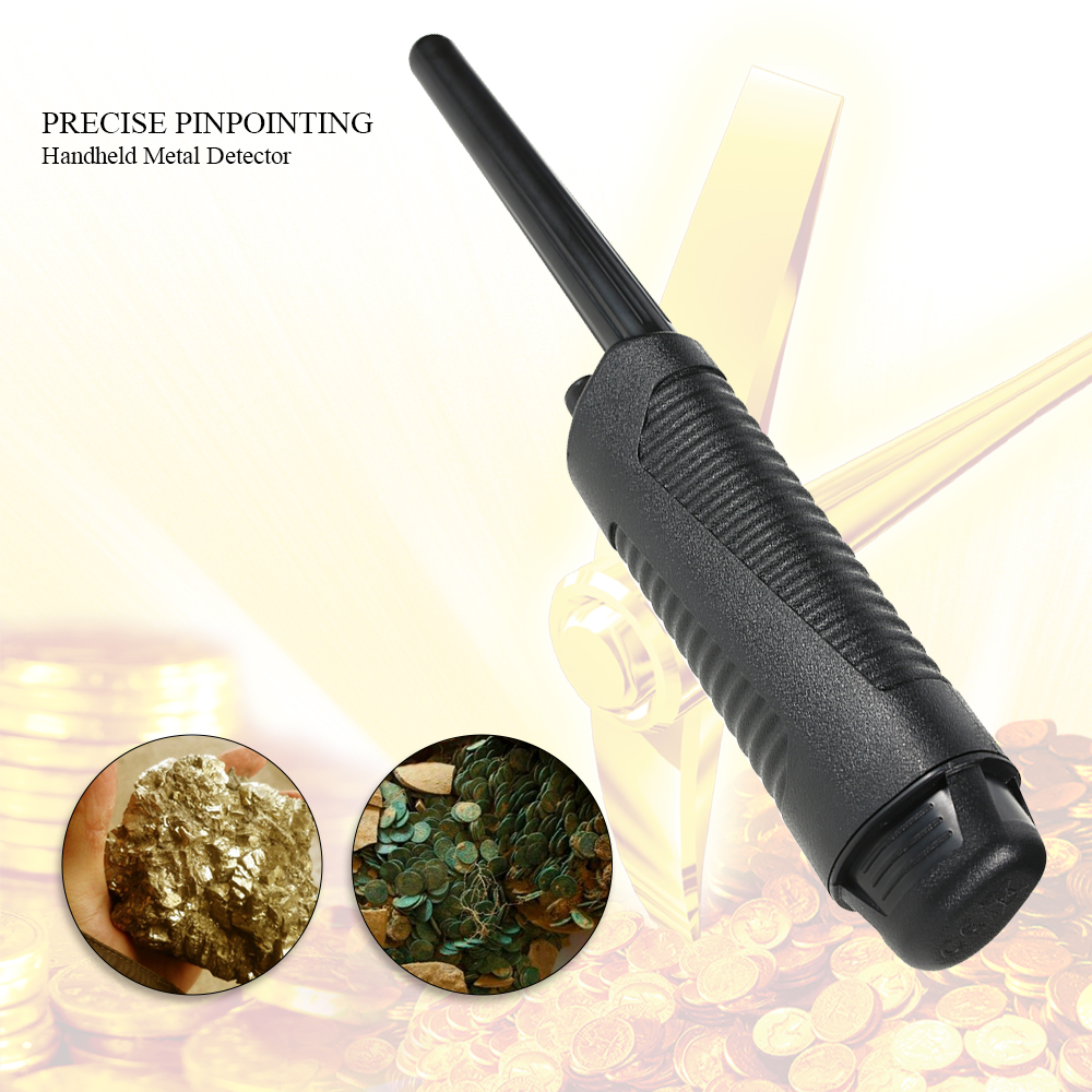 Handheld Pinpointer Metal Detector + Holster Treasure Hunting Unearthing Tool AccessoriesBuzzer Vibration Adjustable Sensitivity