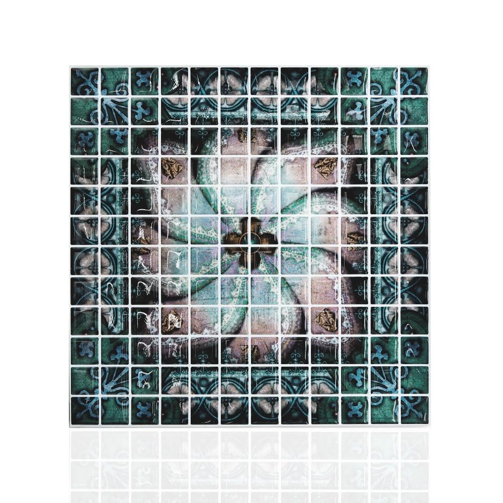 Buy 10 x 10 peel and stick mosaic tile for Unique mosaic tile