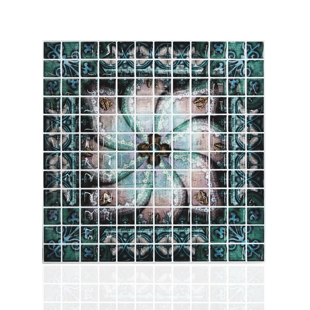 10 X 10 Peel and Stick Mosaic Tile Decorative Backsplash Kitchen