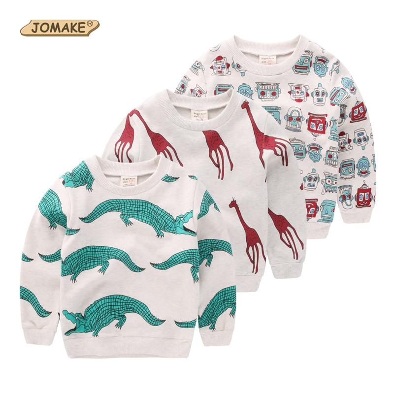 Crocodile/Giraffe/Robot 2016 New Children Hoodies Boys Sweatshirts Toddler Boy T-shirts Cute Sweater Fashion Tops Kids Clothes