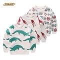 Cocodrilo/de la Jirafa/Robot 2016 Nuevos Niños Sudaderas Niños Sudaderas Niño Boy Camisetas Lindo Suéter Tapas de La Manera Ropa de Los Cabritos