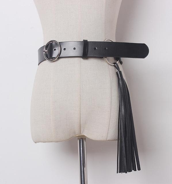 Lo nuevo de metal diseñador mujeres de alta calidad de cuero de vaca genuino cinturón borla cinturones ceinture de la hebilla de la vendimia freeshipping