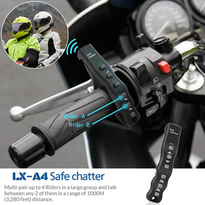 Image 5 - 2 pcs Lexin A4 Motorcycle Bluetooth Helmet Intercom Headset for 4 Riders Interphone support Remote Control  BT Wireless intercom