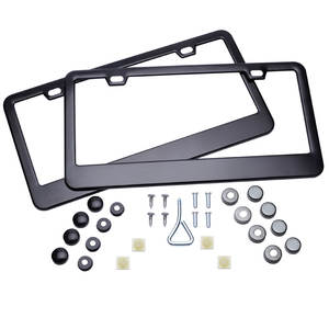Tag-Cover-Holder Frame License-Plate JDM Auto-Truck Front New 2pcs Rear for Vehicles