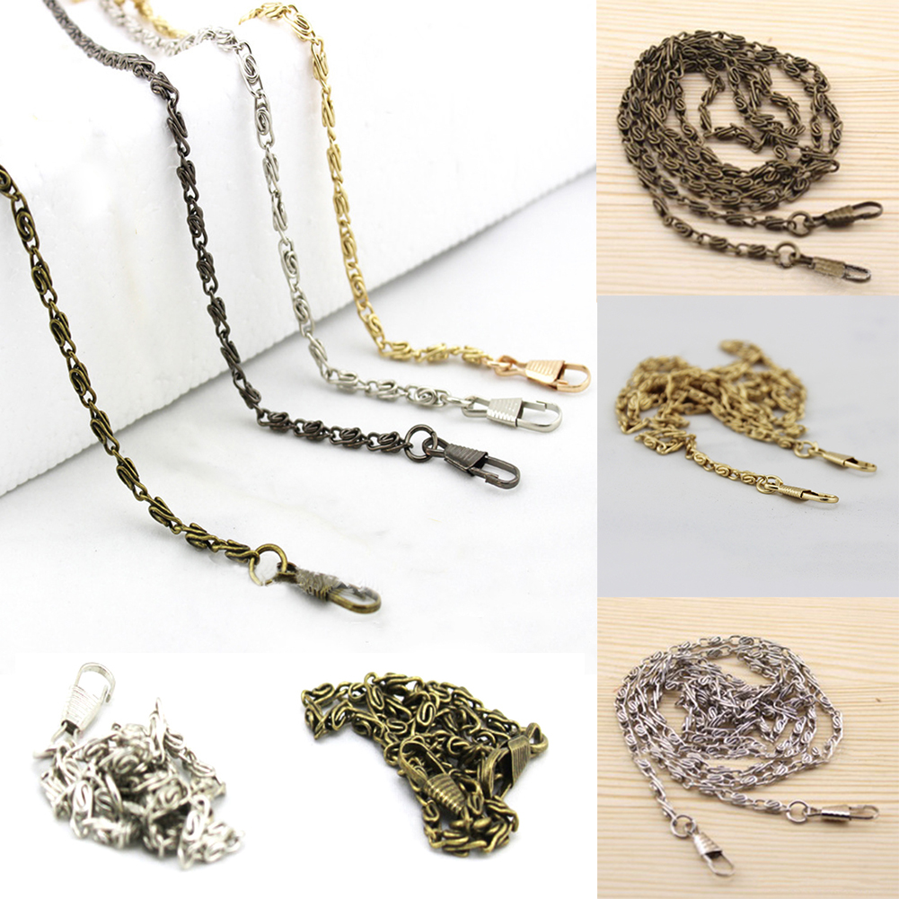 120cm Metal Chain For Shoulder Bags Handbag Handle DIY Belt For Bag Strap Chains Gold Belts Hardware For Bag Accessories