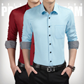 8 Colors M-5XL Solid 2017 New Business Working Style Mens Dress Shirts Male Clothes Social Casual Shirt Men Brand C174