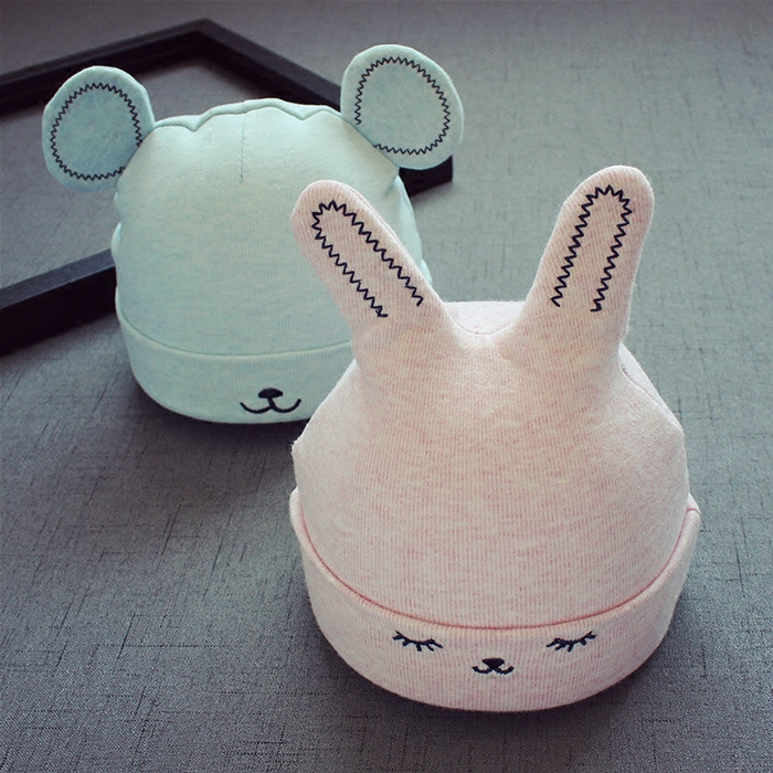 зимняя детская шапка мультфильм стиль уха крючком вязаные шапки для