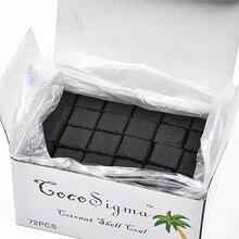 "72 Cubes/Box ""COCO Sigma"" Kokos Shisha Holzkohle ""Premium Shisha Holzkohle"" Weniger Asche, rauch, Länger Als 1,5 Stunden!!"""