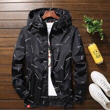 Neue männer jacke mit kapuze Jacken Plus Größe 10XL 9XL 8XL 7XL männer Windjacke Casual Mantel für Männliche Oberbekleidung Streetwear jacke