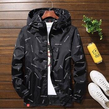 New men jacket hooded Jackets  Plus Size 10XL 9XL 8XL 7XL men Windbreaker Casual Coat for Male Outerwear Streetwear jacket