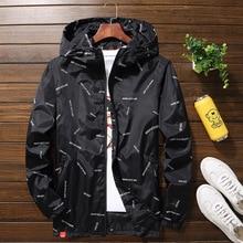 Yeni erkek ceket kapşonlu ceketler artı boyutu 10XL 9XL 8XL 7XL erkek rüzgarlık rahat ceket erkek giyim Streetwear ceket
