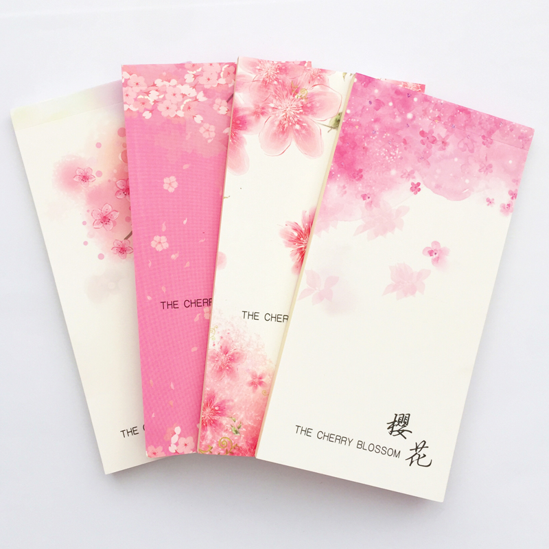 47 Sheets Romantic Sakura Portable Planner Notebook To Do List School Office Supply Student Stationery Notepad