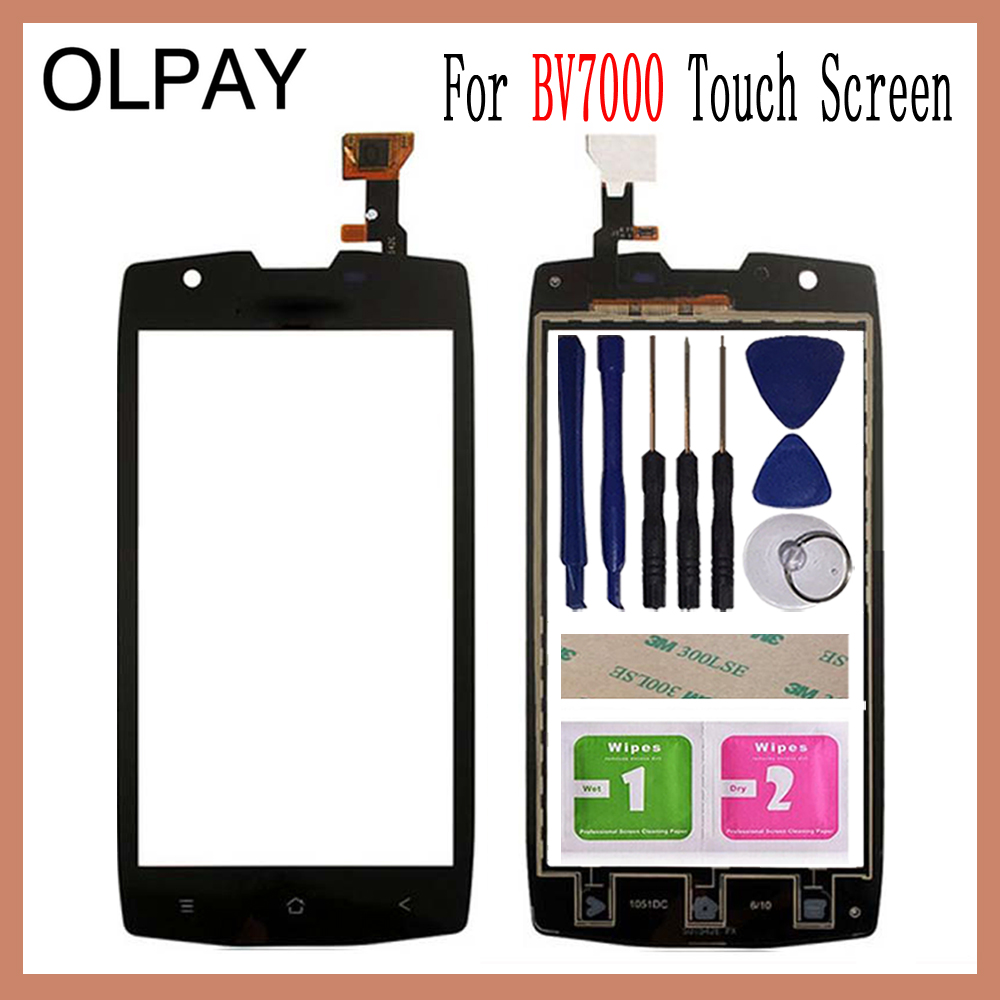 OLPAY 5.0'' Mobile Touch Panel Front For BlackView BV7000 Touch Screen Digitizer Panel Glass Len Sensor Tools Adhesive+Wipes