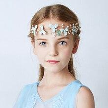 Chegada nova Handmade Flor Headband Nupcial Do Cabelo Flor Mulher Meninas acessórios de Cabelo da dama de honra da Festa de Casamento Guirlanda