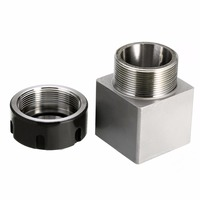 Durable ER 32 Collet Chuck Holder Square Collect Block 45x65mm Hard Steel For CNC Lathe Engraving
