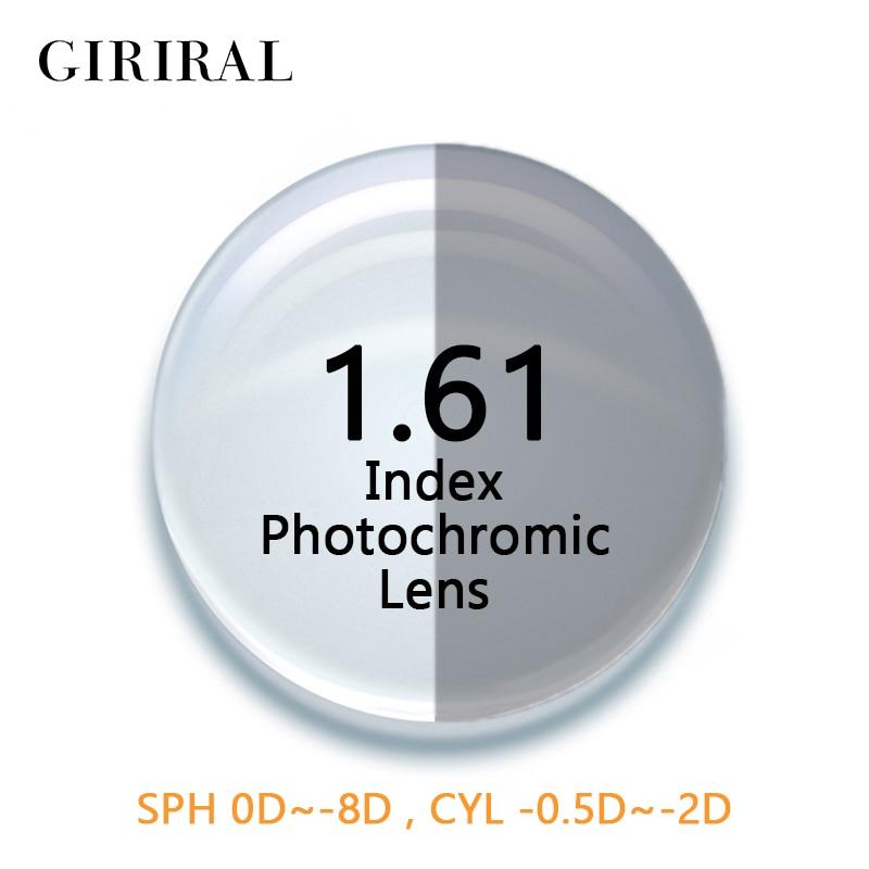 89346d31a9212 Índice de 1.61 lentes Fotocromáticas CR-39 olho colorido óculos de sol  óculos de lentes