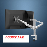 aluminum OA 4S 10 27 Double arm dual screen desktop mount monitor table stand pad desk mount stand monitor bracket shelf
