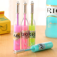B104 Japanese and Korean stationery fresh lovable wine bottle modeling cocktail neutral pen prize pen student small gift(China)